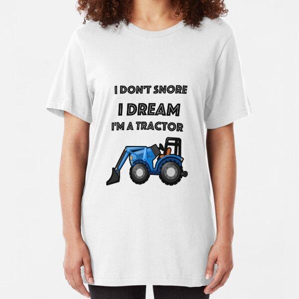Tractor Farmer Funny Farmer Gifts Slim Fit T-Shirt