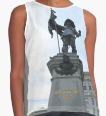 500 Place D'Armes - statue, monument, sculpture, architecture, city, art, landmark, old, liberty, memorial, sky, history, statue of liberty, travel, building, tourism, square, stone, famous, town Contrast Tank