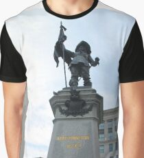500 Place D'Armes - statue, monument, sculpture, architecture, city, art, landmark, old, liberty, memorial, sky, history, statue of liberty, travel, building, tourism, square, stone, famous, town Graphic T-Shirt