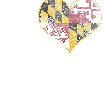 I Love Maryland Beer Flag by frittata