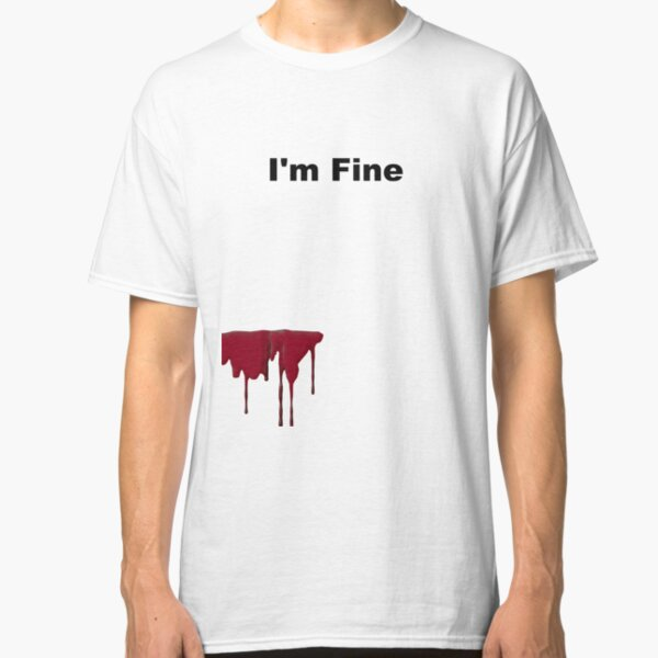 Im Fine Graphic Novelty Sarcastic Movie Slash Humor Zombie Funny T Shirt
