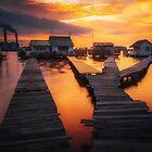 Sunset Lake by Márk Borbély