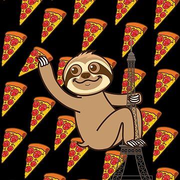 Sloth Pizza Paris by plushism