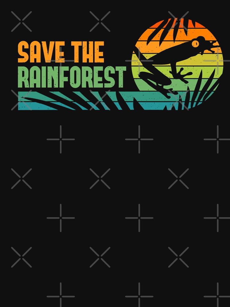 Save the Rainforest - Retro Tree Frog by Bangtees