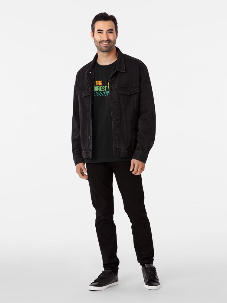 Alternate view of Save the Rainforest - Retro Tree Frog Premium T-Shirt