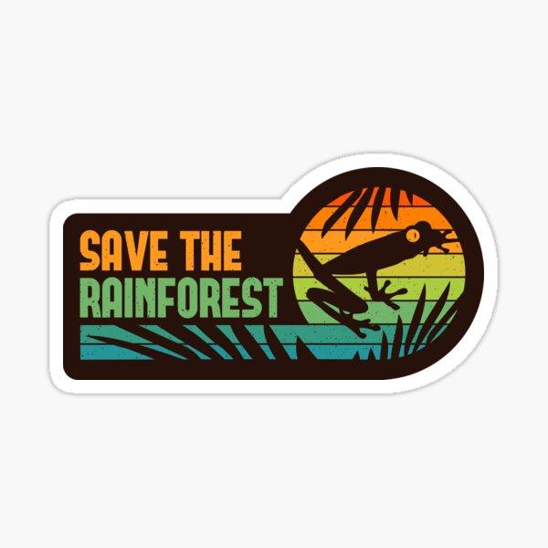 Save the Rainforest - Retro Tree Frog Sticker