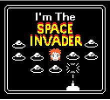 Moonage Space Invader Photographic Print