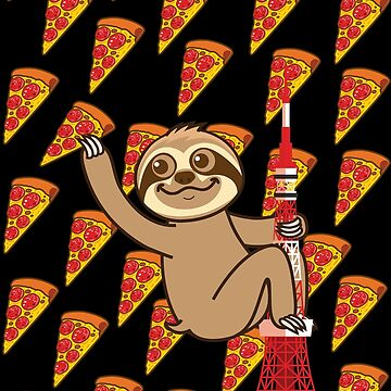 Sloth Pizza Tokyo by plushism