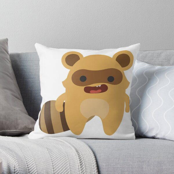 Mapuski Raccoon Throw Pillow