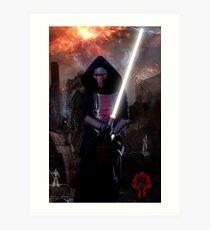 Darth Revan in Jedi Temple Art Print