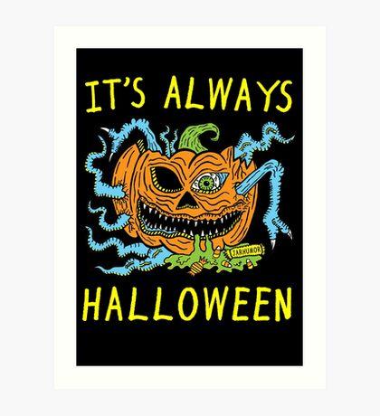 Siempre es Halloween Lámina artística