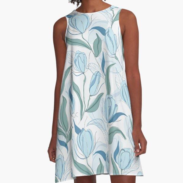 Blue tulips  A-Line Dress