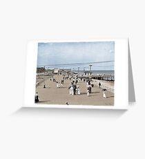 Boardwalk at Asbury Park on The Jersey Shore circa 1905.  Greeting Card