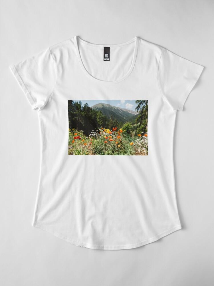 Alternate view of Mountain garden Premium Scoop T-Shirt