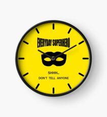 Everyday Superhero Clock