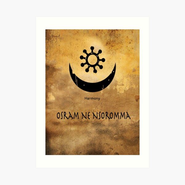 Osram Ne Nsoromma Adinkra Symbol Art Print