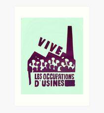 mai68-revolution-live-factory occupations Art Print