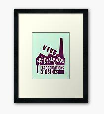 mai68-revolution-live-factory occupations Framed Print