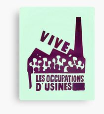 mai68-revolution-live-factory occupations Canvas Print