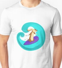 Dog Surfing Dogs Waves Surfing Motif - Funny Gift Idea Unisex T-Shirt