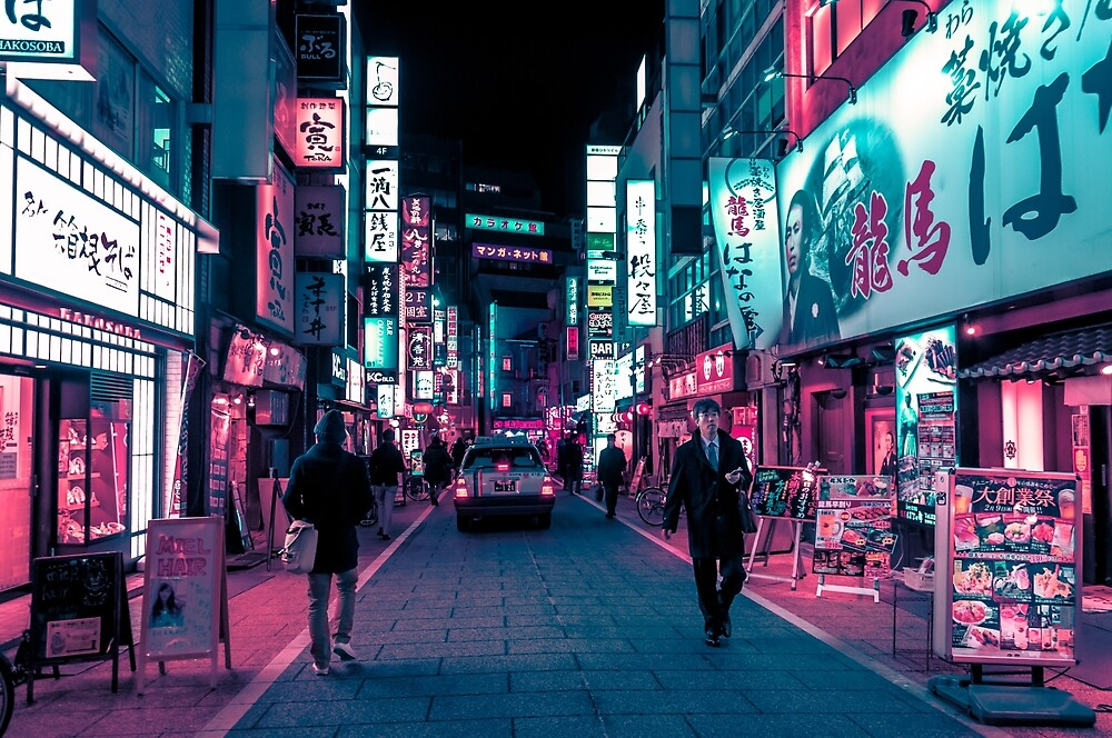 Schimmernde Neonlichter von Tokio von HimanshiShah