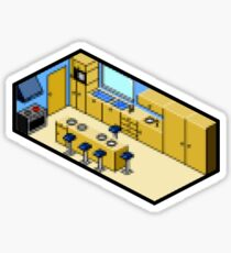 KITCHEN PIXEL ART Sticker