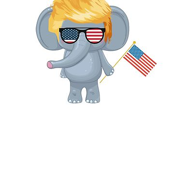 Trumplican T-Shirt President Trump Republican Elephant T-Shirt by JollyKRogers