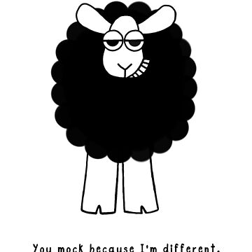 Mock Me Sheep - black text by WeBeBlacksheep