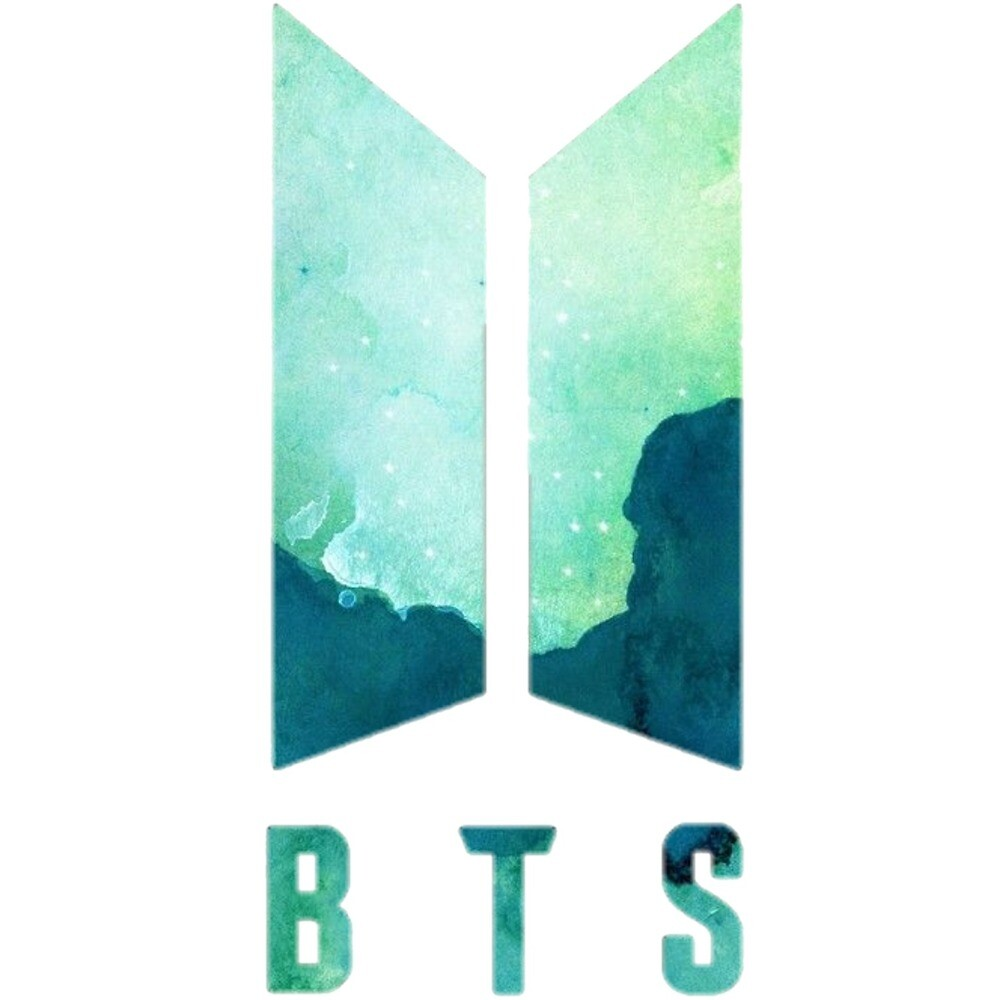 Green bts logo sticker