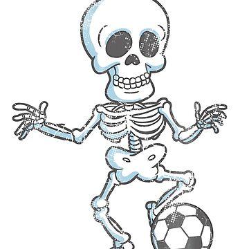Soccer Skeleton Halloween by frittata