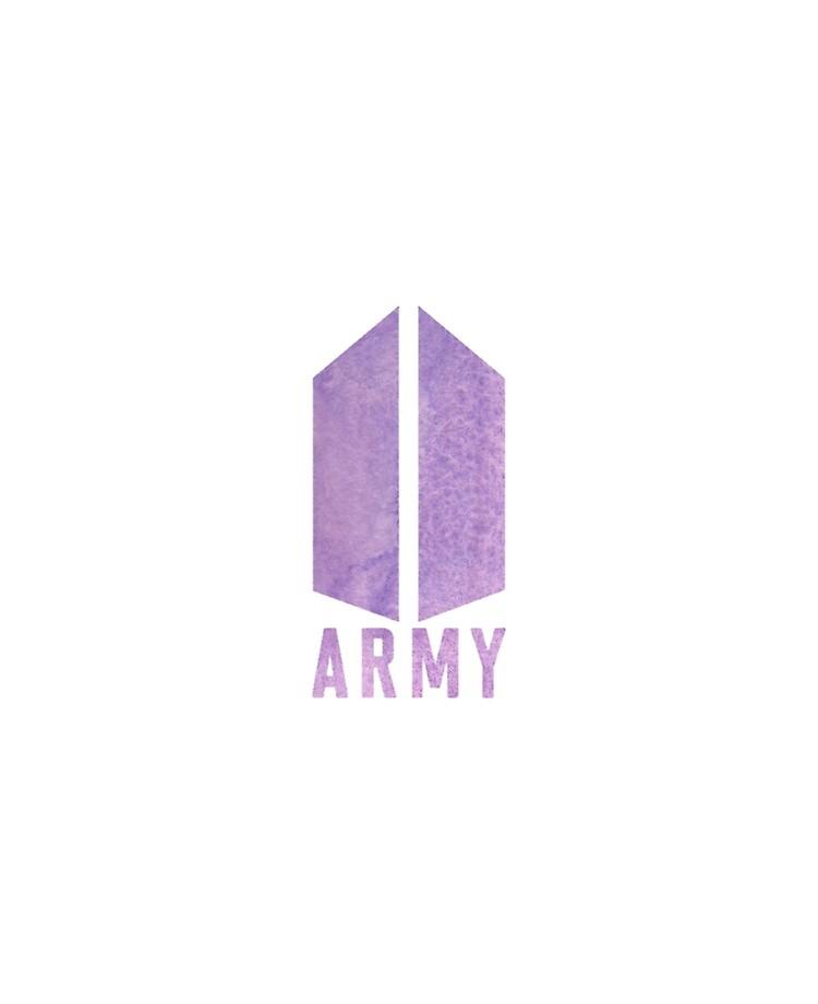 purple bts army logo sticker ipad case skin by manzae redbubble redbubble