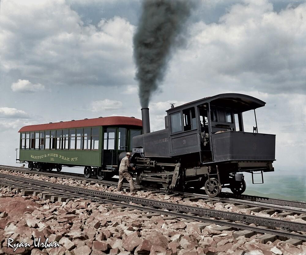 Cog Train Railway, Pike's Peak, Colorado circa 1900 by ryanurban