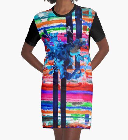 BAANTAL / Lines Graphic T-Shirt Dress