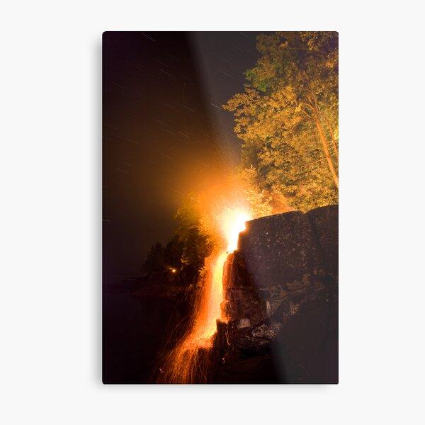 Waterfalls on Fire Metal Print