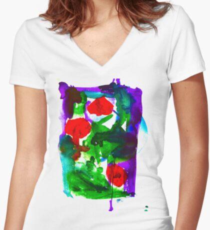 BAANTAL / Pollinate / Evolution #2 Fitted V-Neck T-Shirt