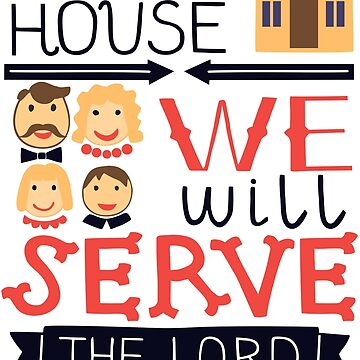 Me And My House We Will Serve The Lord Joshua 24:15 Bible Verse Psalm Family Inspirational Quote Lettering by cl0thespin