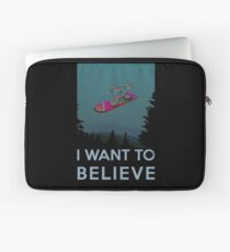 I want to believe - The Hover Board from back to the future Laptop Sleeve