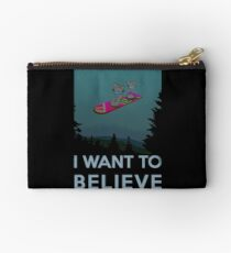 I want to believe - The Hover Board from back to the future Studio Pouch