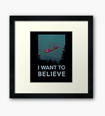 I want to believe - The Hover Board from back to the future Framed Print