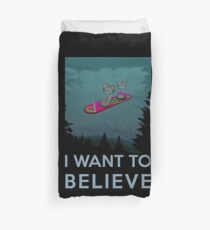 I want to believe - The Hover Board from back to the future Duvet Cover