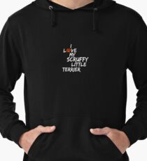 I Love My Scruffy Little Terrier Dog Slogan Gifts for Dog Lovers Lightweight Hoodie