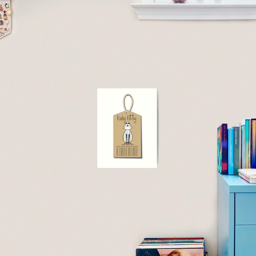 KINKY KITTY - Kinky Tag Art Print