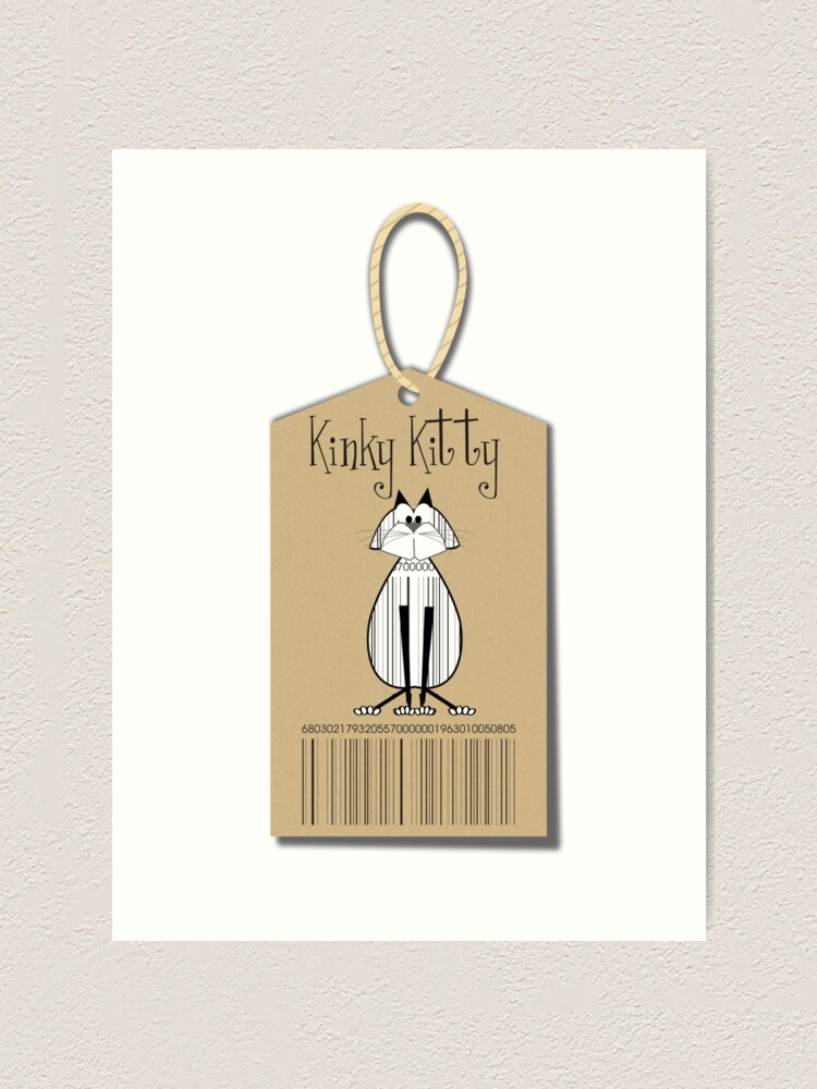 Alternate view of KINKY KITTY - Kinky Tag Art Print