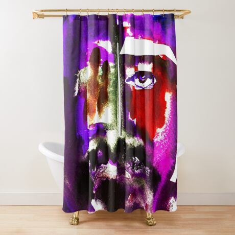 BAANTAL / Hominis / Faces #3 Shower Curtain