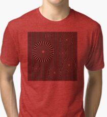 MOVING CIRCLES (BLACK) Camiseta de tejido mixto