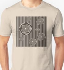 MOVING CIRCLES (BLACK) Camiseta ajustada