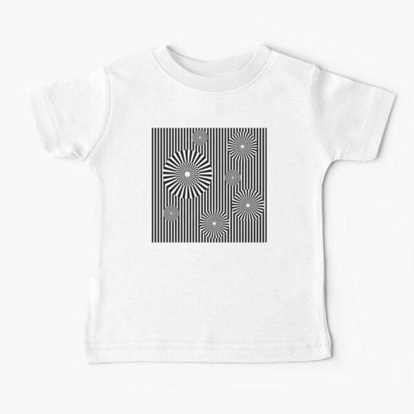 MOVING CIRCLES (BLACK) Camiseta para bebés