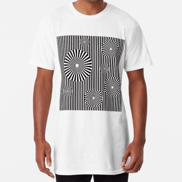 MOVING CIRCLES (BLACK) Camiseta larga