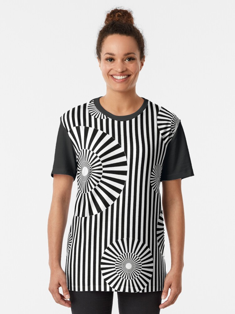 Vista alternativa de Camiseta gráfica MOVING CIRCLES (BLACK)