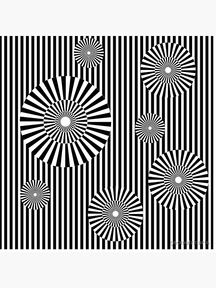 MOVING CIRCLES (BLACK) de geometricarte